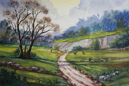 Original Handmade Landscapes Paintings by Contemporary Indian Artists