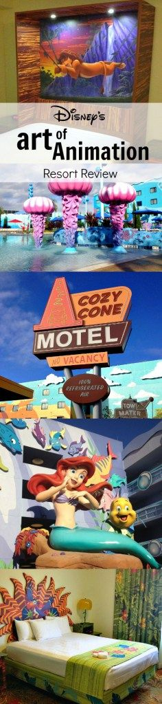 A thorough three-part review of the Disney World's Art of Animation Resort