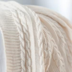 Cuddle up to your loved one in this @bollandbranch Cable Knit Throw Blanket this #ValentinesDay