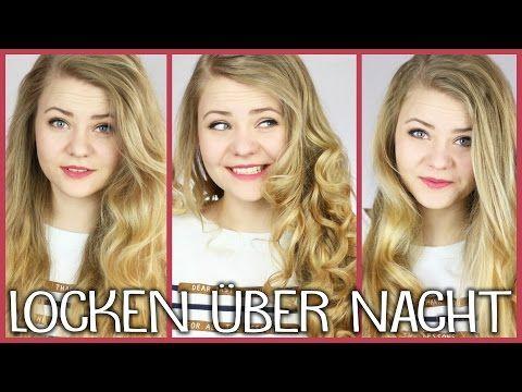 Mega schöne Locken ♥3 ARTEN von LOCKEN OHNE HITZE | Schnell & über Nacht - YouTube