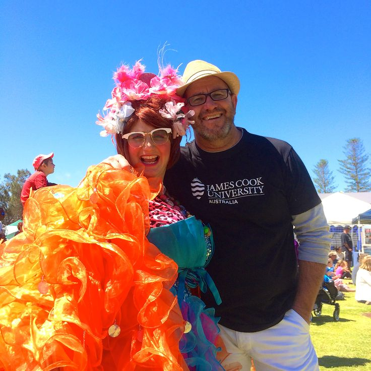 Quirky and crazy festivals and events!  The Famous Sharron snuggles up to a local...