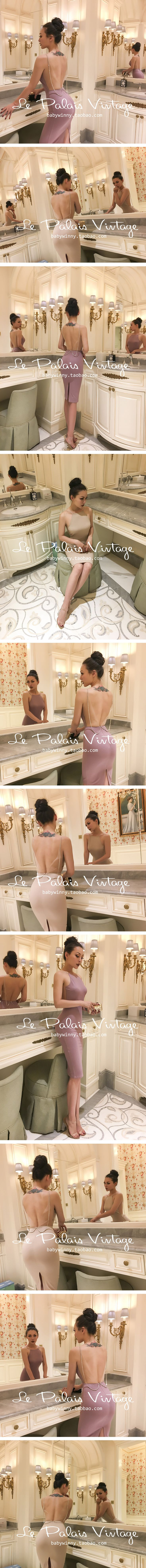 Aliexpress.com : Buy le palais vintage 2017 Summer Very Sexy Backless Diamonds Dress Sheath Pullover Type See Trough Mesh Fabric High Rise Sleevelss from Reliable diamond dress suppliers on Mr. and miss