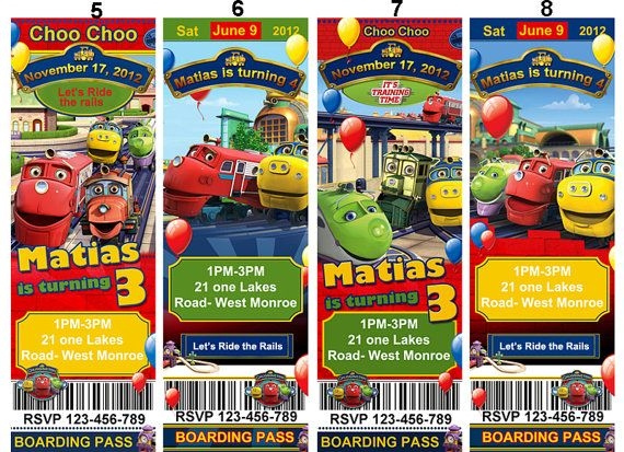 28 best images about Jaxtons 2nd birthday – Chuggington Party Invitations