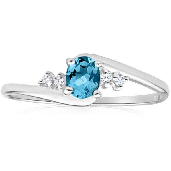 Blue Topaz Cubic Zirconia Ring 9ct White Gold 40198855 Shiels ❤ liked on Polyvore featuring jewelry, rings, white gold jewellery, white gold cz rings, white gold cubic zirconia rings, cz jewelry and white gold rings