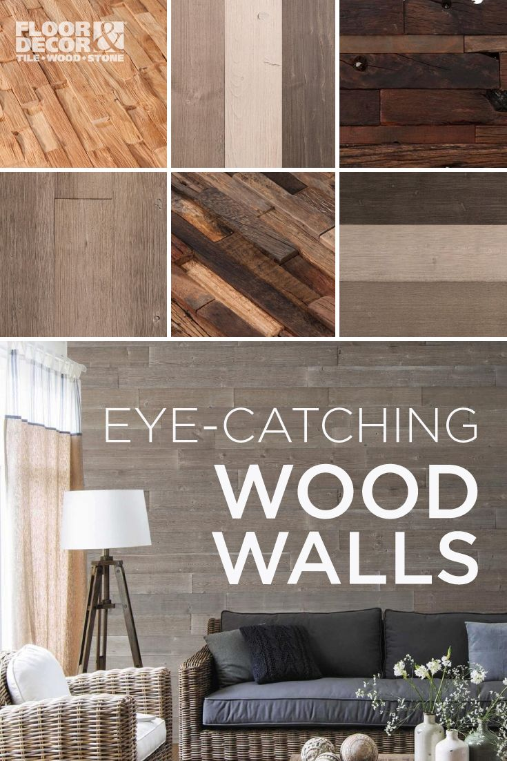 Craft the perfect accent wall with wood on walls! Here are some of our favorite wood looks...
