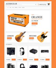 Best ever & new themes or templates for website development of Audio  stores.