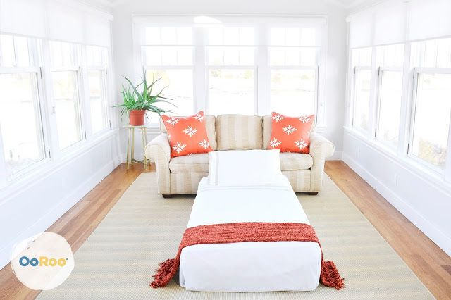 Sleep in Style with #OoRooBeds! ~ When you live in a small space and you don't have a guest room - you can still give your guests a great night's sleep on an OoRoo Folding ottoman bed.