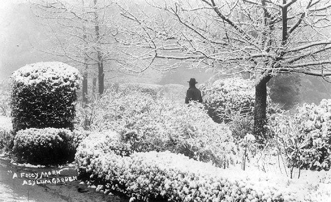 A Foggy Morn, Asylum Garden, Snowscene - Joseph Bishop Family circa 1900s.