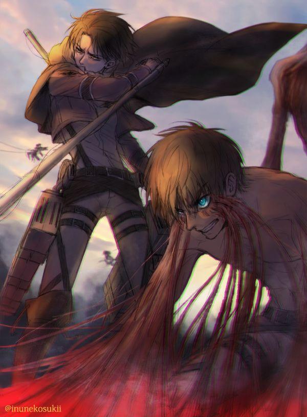 Levi x Eren⚔Shingeki No Kyojin   aot/ships   Attack on ...