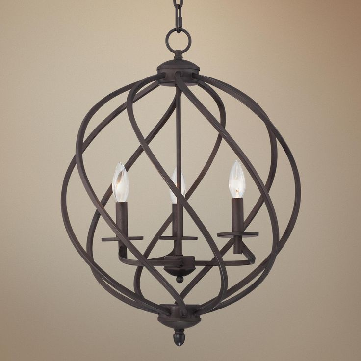 Wide Foyer Chandelier : Katerina quot wide swirled bronze metal foyer