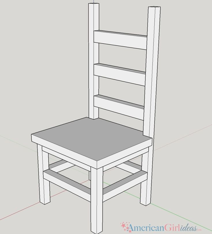 How to make American Girl Kitchen Chair