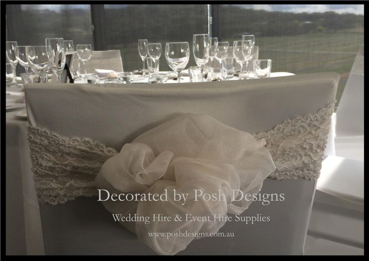 #weddingsashes #ivoryorganzasash #lacebands #theming available at #poshdesignsweddings - #sydneyweddings #southcoastweddings #wollongongweddings #canberraweddings #southernhighlandsweddings #campbelltownweddings #penrithweddings #bathurstweddings #illawarraweddings  All stock owned by Posh Designs Wedding & Event Supplies – lisa@poshdesigns.com.au or visit www.poshdesigns.com.au or www.facebook.com/.poshdesigns.com.au #Wedding #reception #decorations #Outdoor #ceremony decorations