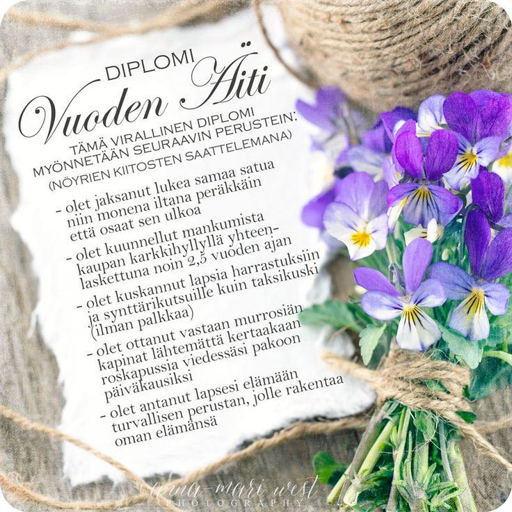 2-os. kortti; Vuoden Äiti   Anna-Mari West Photography