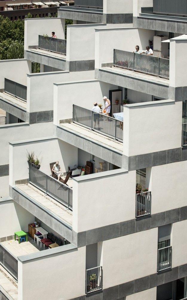114 Public Housing Units by Sauquet Arquitectes i Associats, Carrer Leonardo Da Vinci, Sabadell, Barcelona, Spain - 2013.