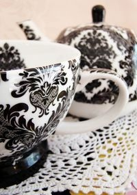 Love  This would be Kelly's cup.  She always loved black and brown.