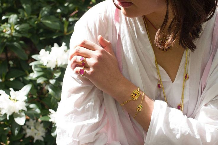 Our navratna amulet bracelets. A sacred configuration of gemstones that are aligned with the 9 planets bringing balance protection and good fortune. #PippaSmall #PippaSmallJewellery #EthicalJewellery #EthicallyMade #PSTheClassicCollection #TheNavratna #Navratna #Gemstones #Planets #Protection