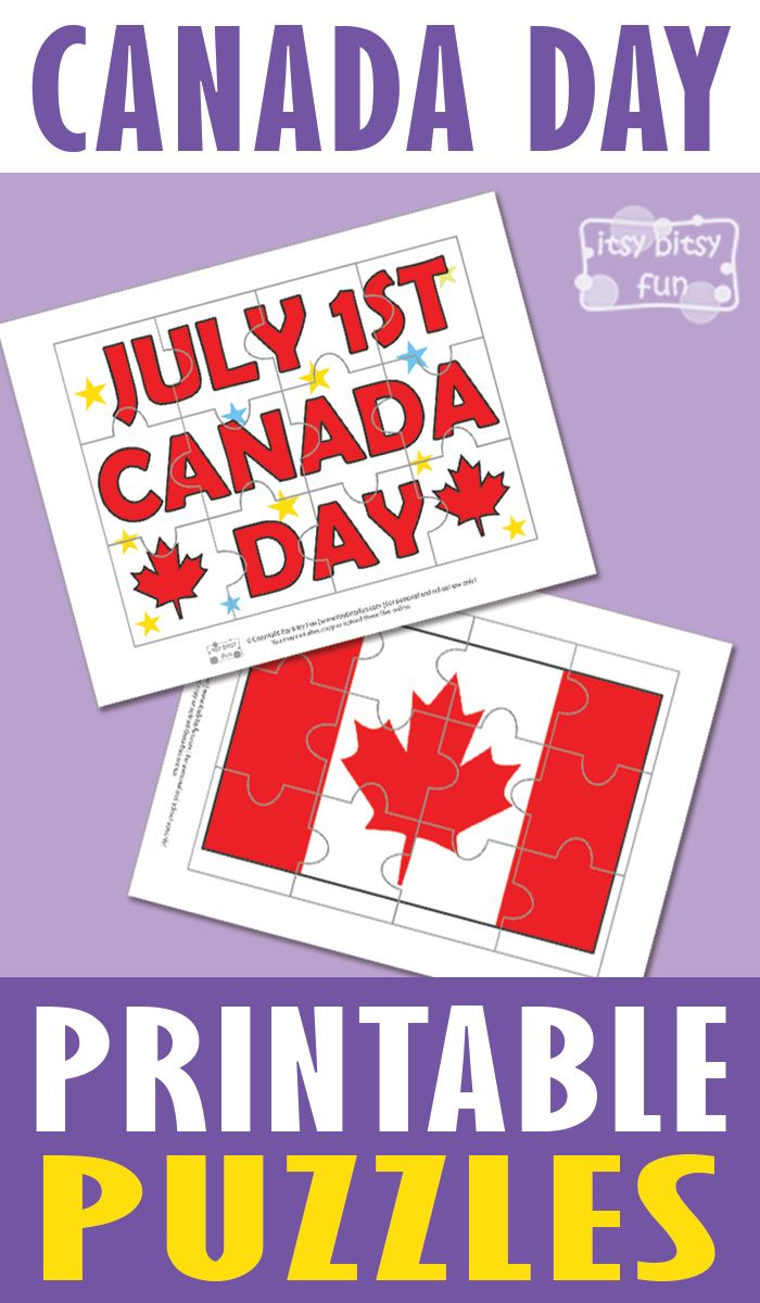 PLEASE*** !FOLLOW! *** Canada Day Free Printable Puzzles for Kids
