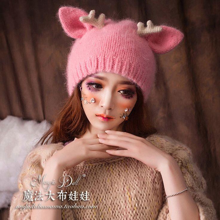 Купить Магические куклы эксклюзивное удовольствие мало Milu рога искусство свежий и сладкий и прекрасный норки кролика волосы шерсть шляпа из категории Шапки / Кепки / Головные уборы на Kupinatao.com