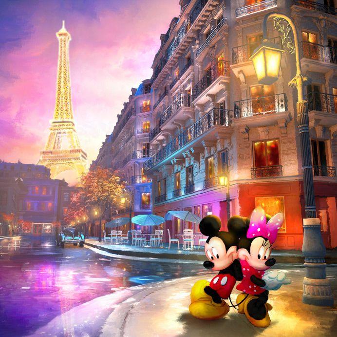 Love in Paris - by Joel PayneGiclee on Canvas