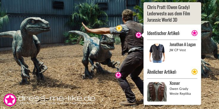 Chris Pratt (Owen Grady) Lederweste (Jonathan A Logan JW CP Vest) aus dem Film Jurassic World 3D