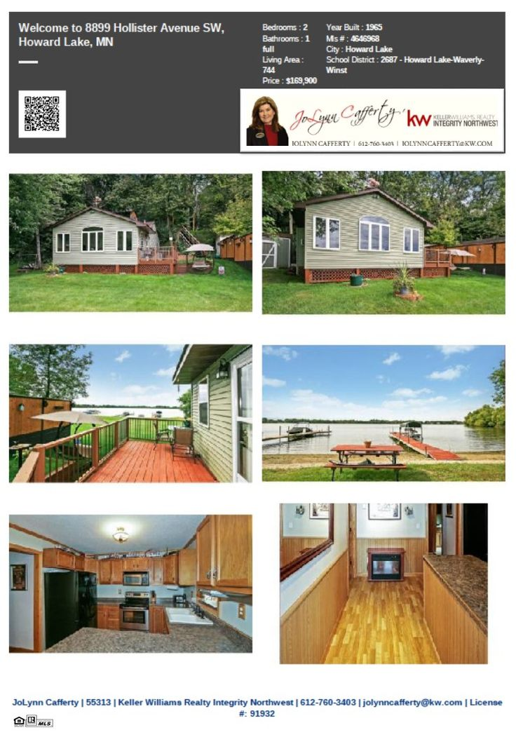 8899 Hollister Ave SW Howard Lake MN 55349. Year round home is located on Lake Ann. Shopping, golf course and parks are all nearby. ISD  2687 Howard Lake-Waverly-Winsted schools. #JoLynnCafferty,#Realtor,#KellerWilliamsRealtyIntegrityNW
