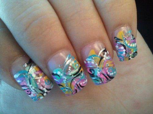16_Funky Nail Design