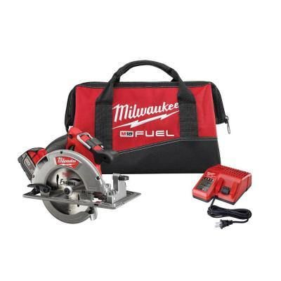 "Milwaukee 2731-21 M18 FUEL 18V 7-1/4"""" Cordless Circular Saw Kit"
