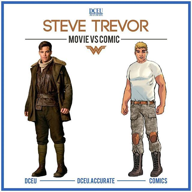 STEVE TREVOR - MOVIE VS COMICS We don't deserve Chris Pine. He was better in live action than in comics in my opinion. He was charming as Steve Trevor and I wish he can come back in Wonder Woman 2 somehow. What do you think about Pine's Steve? Rate Movie and Comic Steve on a scale of 1 to 10 and tell me which one you prefer. .. #dc #dccomics #dceu #batman #superman #wonderwoman #aquaman #cyborg #flash #justiceleague #suicidesquad #dcestablisheduniverse #comiccomparison #movievscomic…