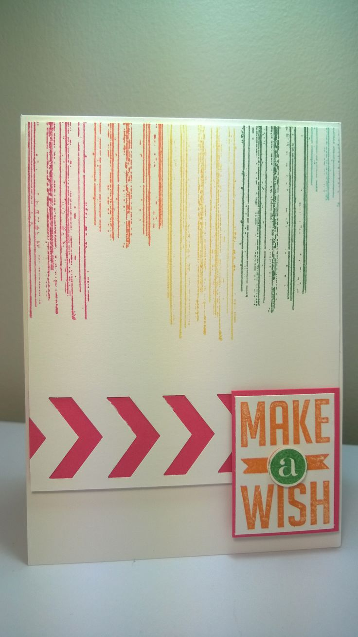 Make a Wish card - by Kylie Swain. A nice, bright project. https://www.facebook.com/BlossomDesigns2