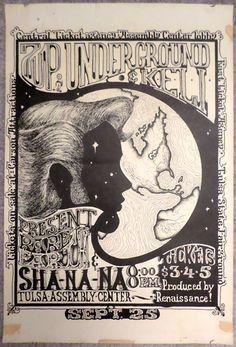 1972 Rare Earth and Sha Na Na Tulsa