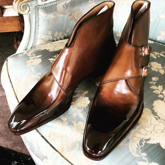 Double monk on the Novello last f#saintcrispins #saintcrispinsshoes