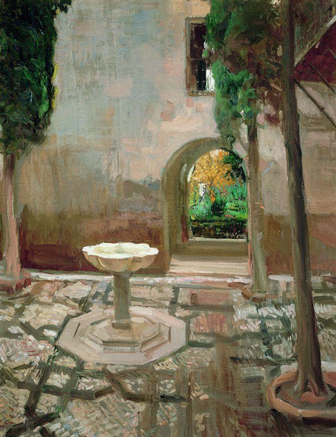 Patio de doña Juana Alhambra de Granada. 1909