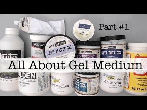 Beginners Mixed Media- All About Gel Medium Part 1- HOW TO GET STARTED? WHAT IS Gel Medium? - YouTube