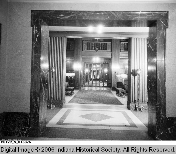 Terre Haute House Hotel Entrance 1935 Indiana Back Home Again In