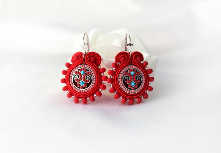 Excited to share the latest addition to my #etsy shop: Small ornament soutache earrings http://etsy.me/2FKRSgp