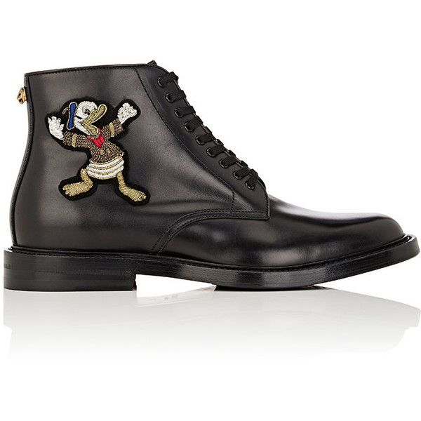 Gucci Men's Leather Lace-Up Ankle Boots ($1,790) ❤ liked on Polyvore featuring men's fashion, men's shoes, men's boots, black, gucci mens shoes, ankle boots mens shoes, mens boots, mens black lace up boots and gucci mens boots