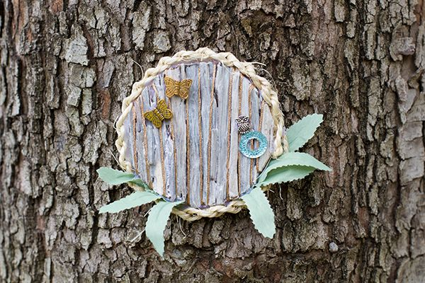 Use materials you find around the garden to make this natural themed fairy door straight out of an Enid Blyton novel.