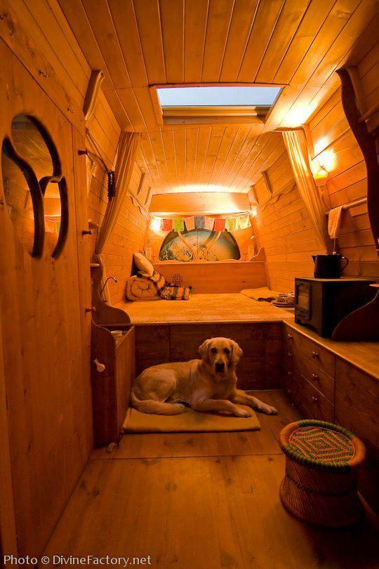 Man Turns Work Van Into Diy Motorhome Tiny Cabin Tiny