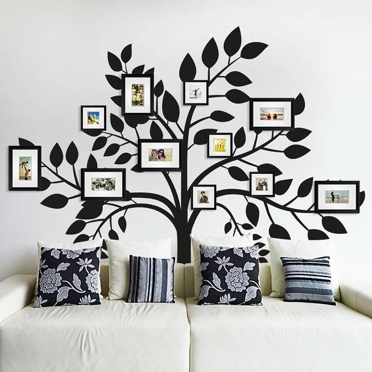 Family Photos Tree Wall Sticker Photo Tree Wall Sticker And - Wall decals decorating ideas