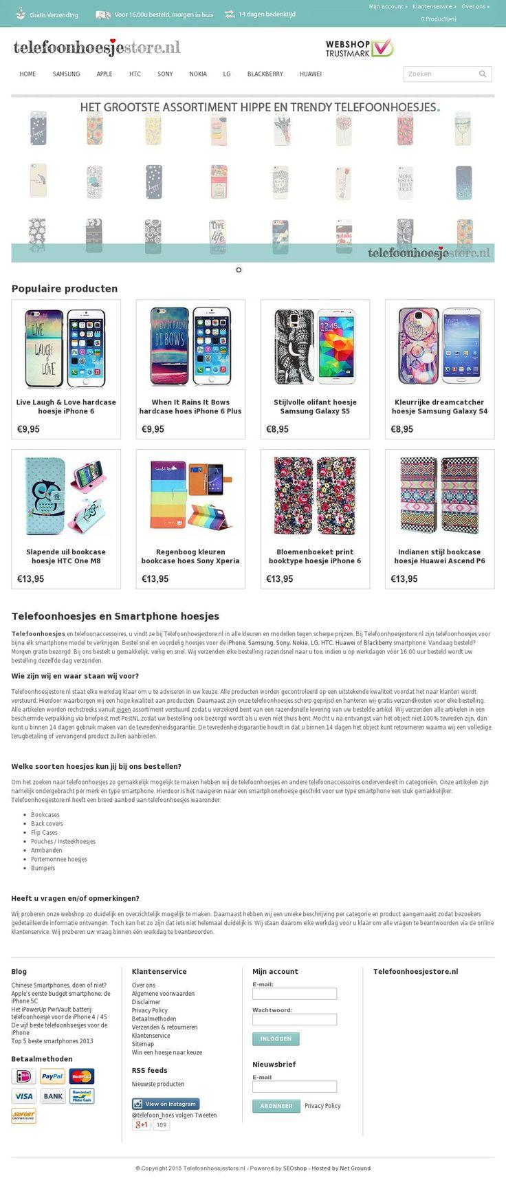 Leuke telefoonhoesjes vind je op www.telefoonhoesjestore.nl.