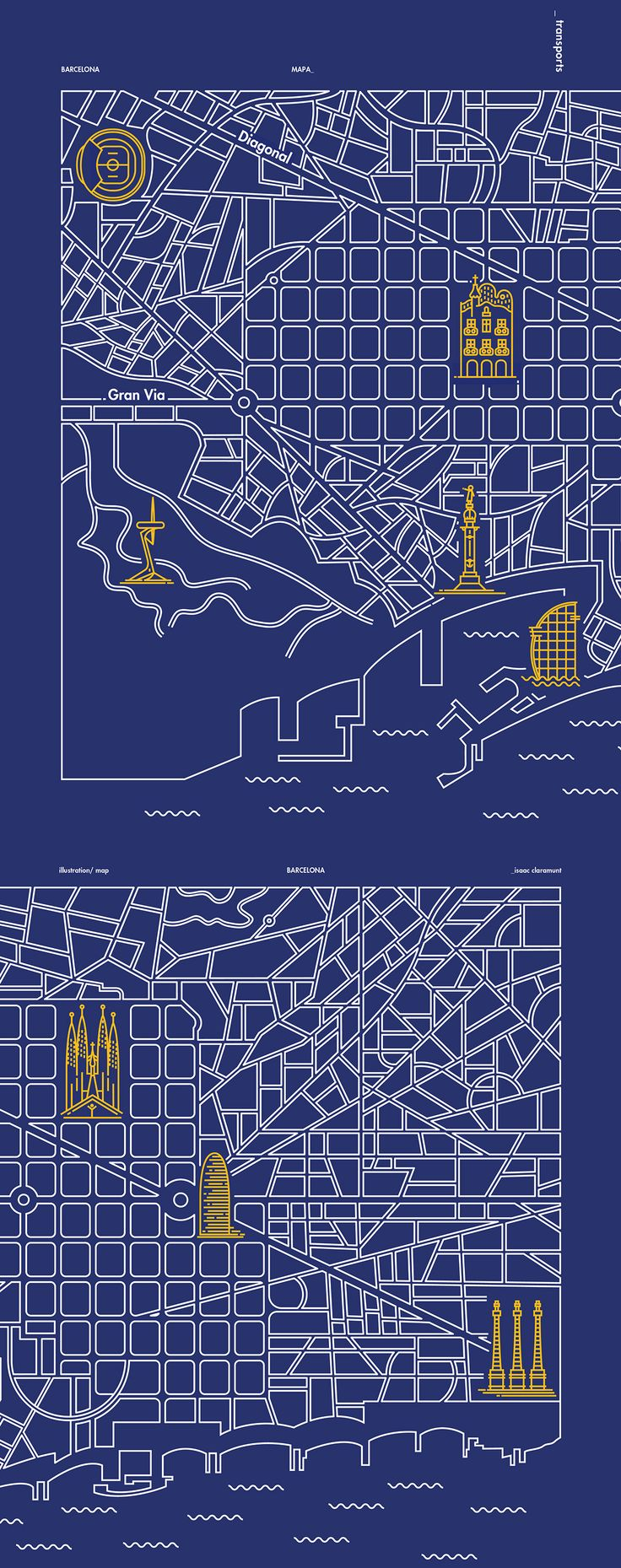San Francisco Map Attractions Pdf%0A ICONS OF BARCELONA on Editorial Design Served