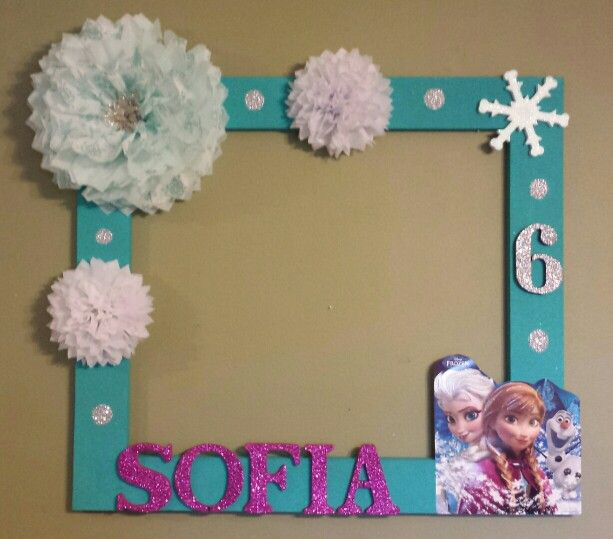 Frozen picture frame. Photo booth.