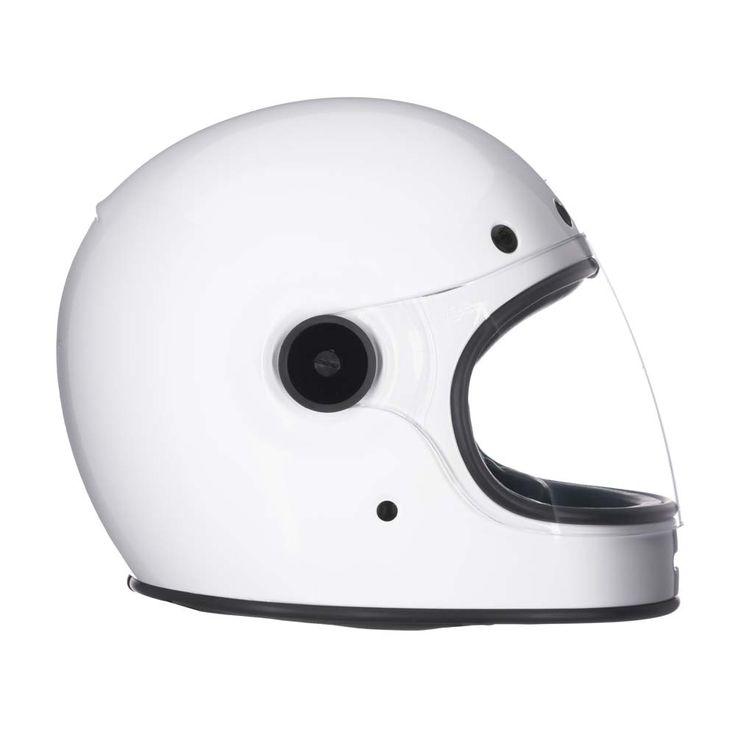 Full Face Motorcycle Helmets : Bell Bullitt Helmet - Solid White - The Cafe Racer