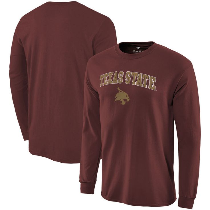 Texas State Bobcats Fanatics Branded Campus Long Sleeve T-Shirt - Maroon