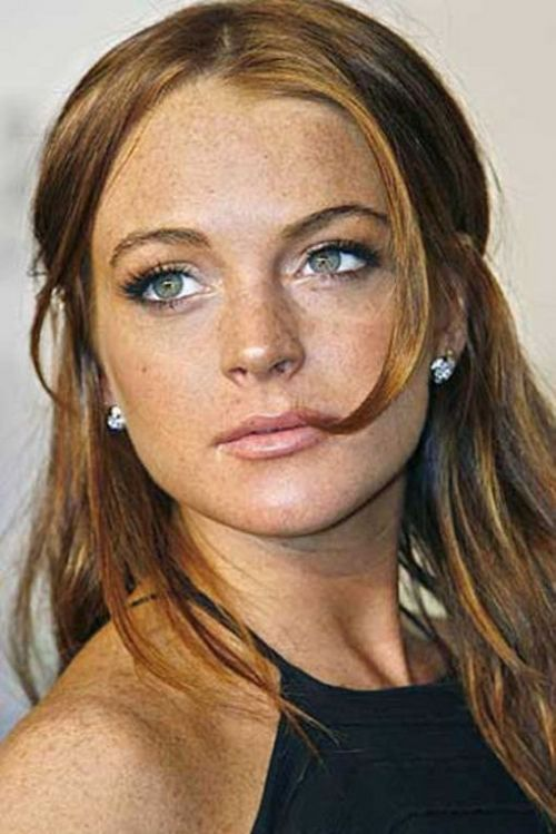 Lindsay Lohan- the most famous freckled girl of them all,