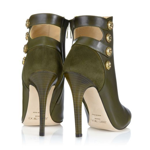 Jimmy Choo ~ Talma Military Calf and Suede Ankle Boots