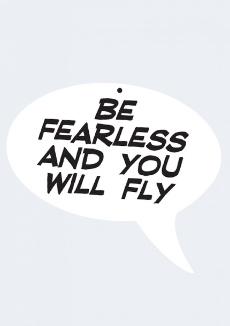 Be Fearless and You Will Fly acrylic wall art