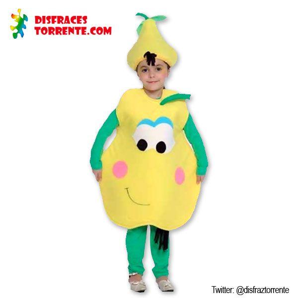 Disfraces de frutas para niños. Disfraz de pera limonera.