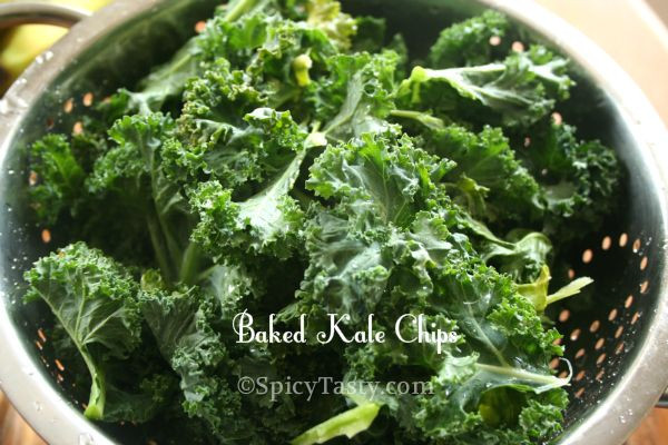 Baked Kale Chips | Spicy Tasty (I've made this)