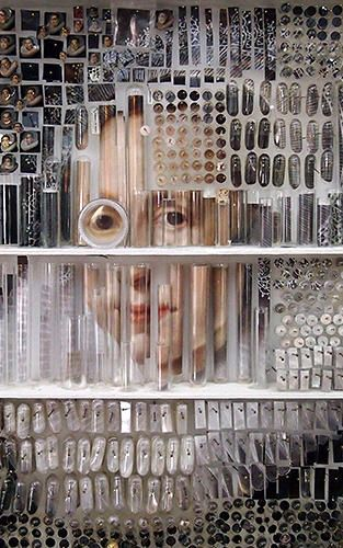 Michael Mapes uses tiny physical objects like glass vials, insect pins, gelatin capsules, printed photographs, and even human hair to assemble insanely detailed recreations of famous works by the likes of Rembrandt and Nicolaes Eliasz Pickenoy.